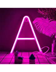 Pink LED Neon Letter Lights LED Neon Word Signs Neon Letters Alphabet Neon Sign Art Lights