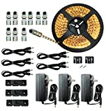 LED Lighting | Cut and Connect Series Kit: Ultra Bright | Warm White | ~3000 K | 39.5ft/ 12M Kit Under Cabinet lighting | Cove lighting | Dimmable | Customizable length with adhesive LED Strip