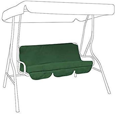 AllRight Swing Chair Cushion Garden Bench Cushion Flame Retardant Fabric For Waterproof Pad Outdoor Garden Terrace Bench Soft Cushion Replaceable Seat Backrest 120x100x10cm Black