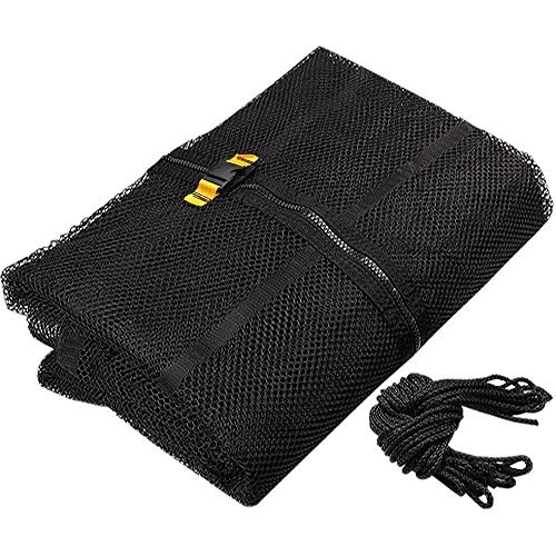 Durable Black 15' Ft Trampoline Enclosure Safety Mesh Net 71'' Ht Replacement Screen Netting Zip Strap Buckle Closure Polyester Fabric Home Fun Play Jump Bounce by LeeMas Inc