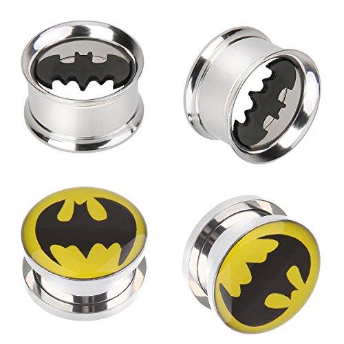 batman 2 gauge ear plugs - 1