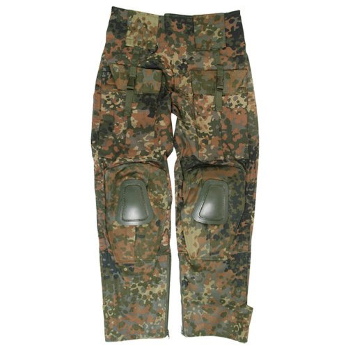 Mil-Tec Warrior Trousers with Knee Pads Flecktarn size S ()