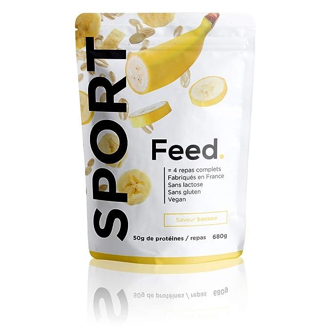 Feed. Sport - 1 Bolsa de 4 Comidas Banana - Comida Completa - 100%