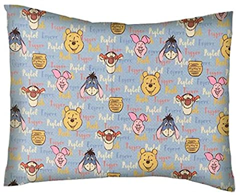 SheetWorld Crib / Toddler Baby Pillow Case - Flannel Pillow Case - Pooh & Friends - Made In USA