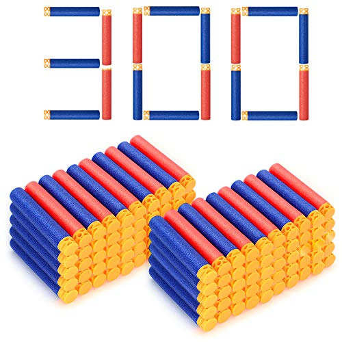 Forliver Refill Darts, 300PCS Refill Bullets Compatible with Nerf Guns for Nerf N-Strike Elite Series Blasters Toy Guns. Kids Christmas Role Play Nerf Battle Game Gift (2019 Upgraded Version) (Best 1 Year Old Toys 2019)