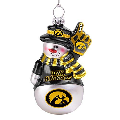 Iowa Glitter (NCAA Iowa Hawkeyes Glitter Snowman Ornament)