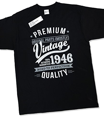 1946 Vintage Year - Aged to Perfection - 70th Birthday Gift / Present T-Shirt Mens