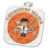 3dRose TNMGraphics School - Chemistry Major in Orange - 8x8 Potholder (phl_286284_1)