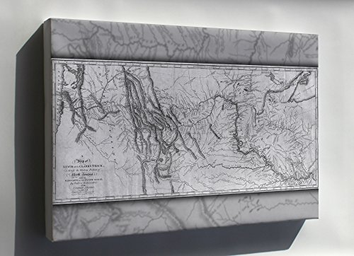 - Canvas 24x36; Lewis And Clark'S Expedition Map, Published 1814