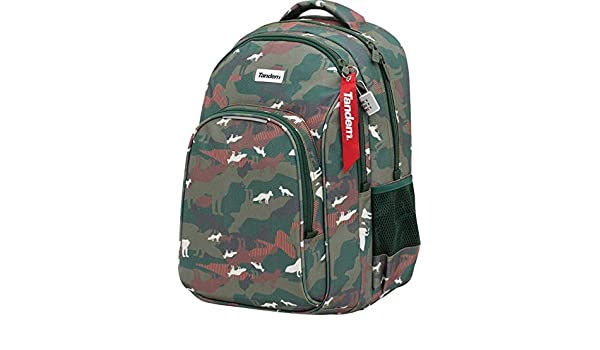Mochila Escolar Juvenil de Doble Cuerpo y Gran Capacidad, Adaptable a Carro portamochilas. Compartimento para Guardar Tablet o portatil 34x45,5x15cm - by ...