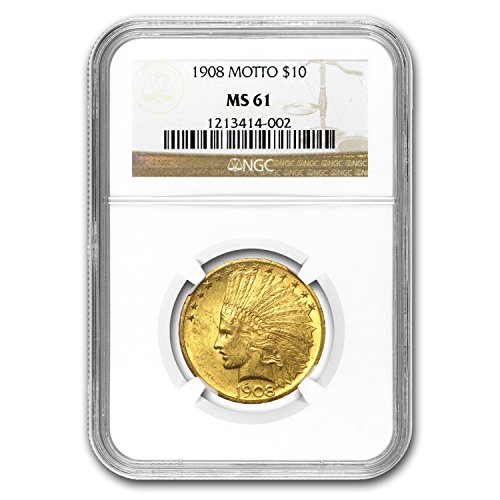 1907 – 1933 $10 Indian Gold Eagle MS-61 NGC G$10 MS-61 NGC