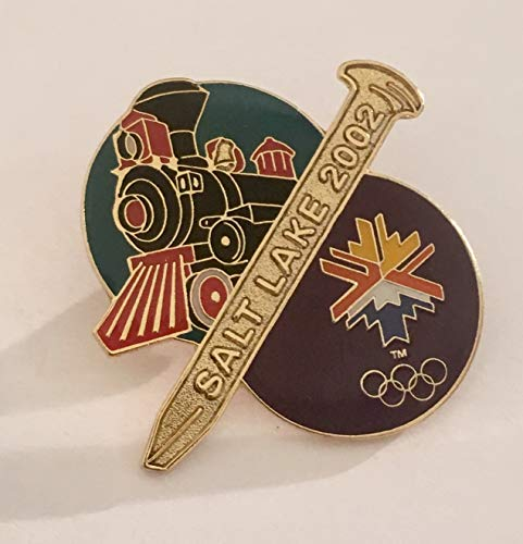 Rare 2002 Salt Lake City Winter Olympics Golden Spike Promontory Point Utah Pin LE 2002 (2002 Olympic Pins)