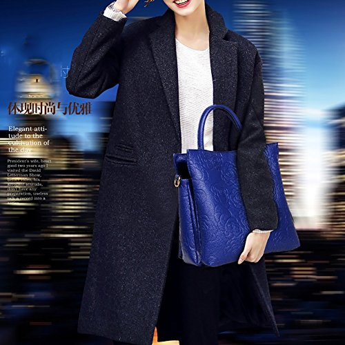 Satchel Color boda Show Set Evening Fashion hombro para Purse Bolsos Black Business Tote mujeres Reception 3pcs or Bolsos Blue Working YAN de H0qppP