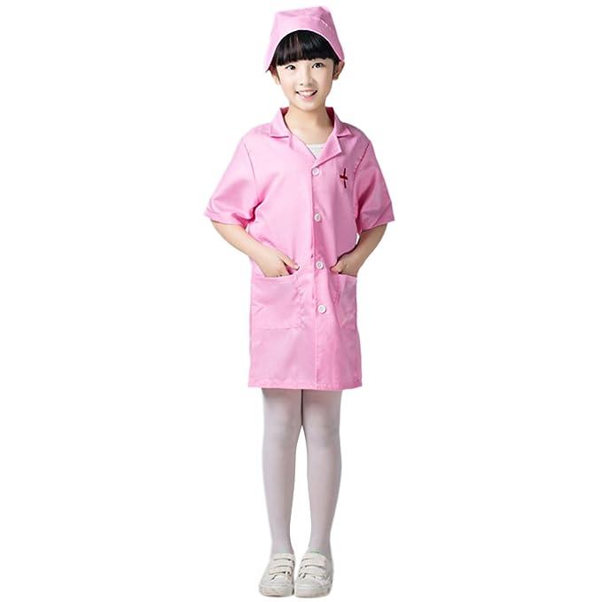TopTie Kids De Manga Corta Bata De Laboratorio con Cap, Doctor \/ Nurse Unisex Scrub Set: Amazon.es: Ropa y accesorios