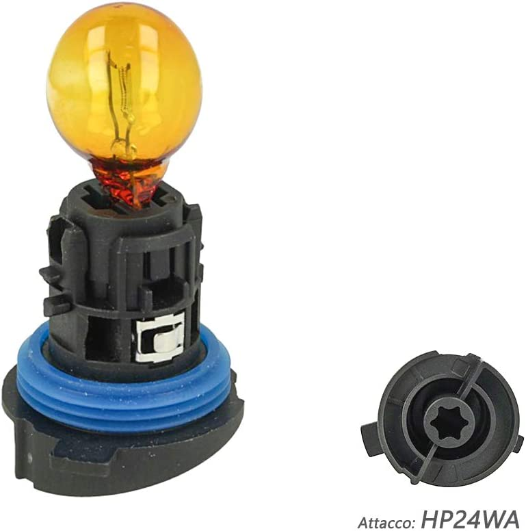 CARALL LA1729 Halogen Lamp HP24WA 12V 24W Orange Amber P24WA For Turn Light Complete with Base Plastic Socket