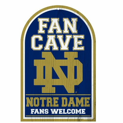 (NCAA Notre Dame Fighting Irish Fan Cave Wood Sign, 11