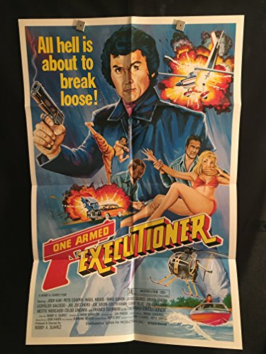 (One Armed Executioner 1983 Original Vintage One Sheet Movie Poster, Karate, Martial Arts, Kung Fu, Jody Kay)