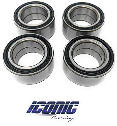 Iconic Racing Both Front and Rear Wheel Hub Bearings Qty. 4 Compatible With Polaris RZR 900 1000 4 S XP XC Turbo (All Models) ()