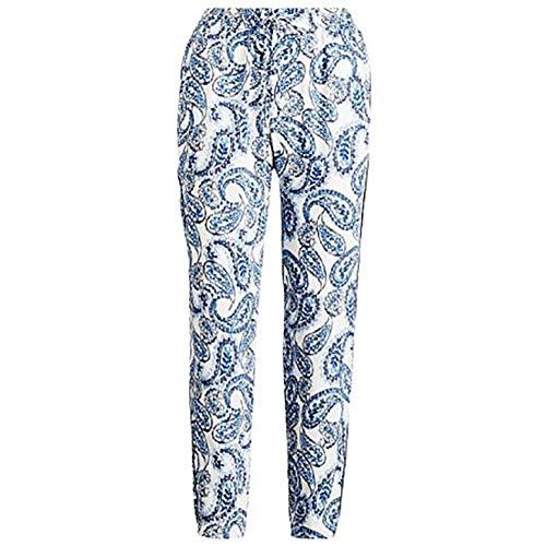 - Lauren Ralph Lauren Womens Paisley Daytime Skinny Pants White 10