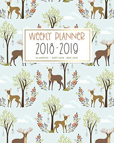 - 2019, 16 Month Sept 2018 - Dec 2019: Cute Boho Woodland Deer Academic Dated Agenda Book ()