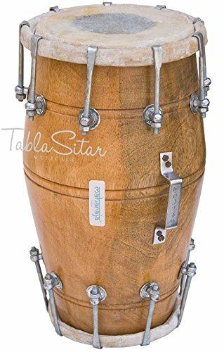 Maharaja Musicals Dholak Drum, Mango Wood, Bolt-tuned, Padded Bag, Spanner, Dholki Musical Instrument (PDI-AJD) by Maharaja Musicals