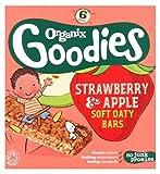 Organix Goodies Organic Strawberry & Apple Soft Oaty Bars 6 X 30G - Pack of 2