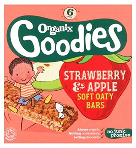 Organix Goodies Organic Strawberry & Apple Soft Oaty Bars 6 X 30G - Pack of 2 by Organix