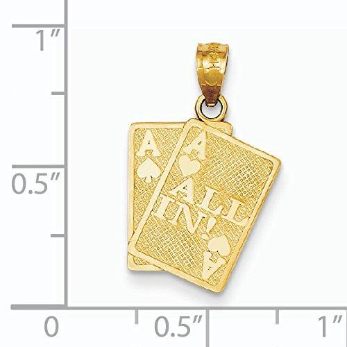 Ace de 14 carats Motif as de pique et toutes!-cartes-Dimensions :  21 x JewelryWeb mm 14 cm