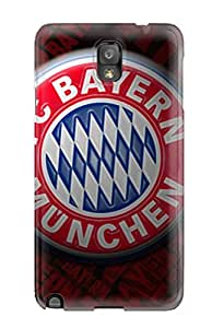 Galaxy Note 3 Case Cover - Slim Fit Tpu Protector Shock Absorbent Case (bayern Munchen Fc Logo)