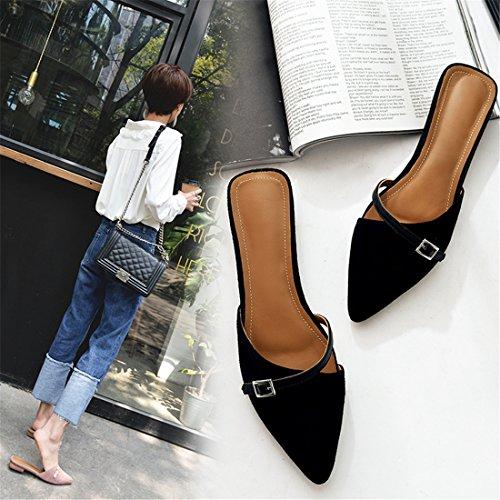 Womens Classic Casual Backless Platform Slip-On Chunky Block Heel Mules 223183263 Pink awqb4Ngxz