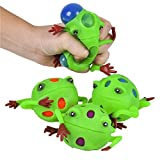 """Rhode Island Novelty 3"""" Frog Squeeze Ball Toy Activity and Play"""