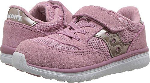 Saucony Girls' Baby Jazz Lite Sneaker, Blush Met, 4 Wide US Toddler