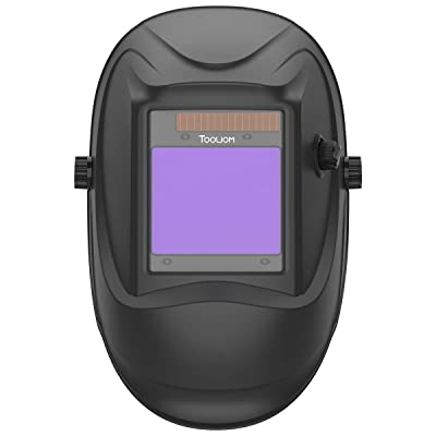 "TOOLIOM Welding Helmet True Color Auto Darkening 1/1/1/2 Large View 3.94""x 3.27"" Battery Powered Welding Mask with Weld/Grind/Cut Mode"