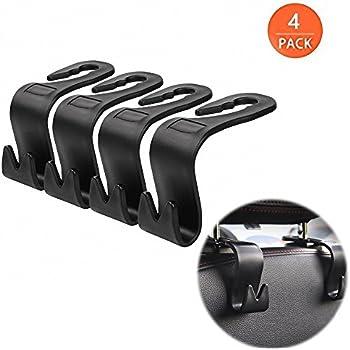car back seat headrest hanger storage hooks purse handbag grocery bag holder set. Black Bedroom Furniture Sets. Home Design Ideas