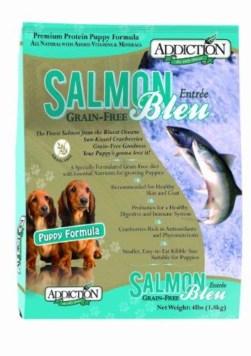 Cheap Addiction Salmon Bleu Grain Free Dry Puppy Food, 4 Lb.