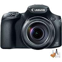 Canon Powershot SX60 16.1MP Digital Camera 65x Optical Zoom Lens 3-inch LCD Tilt Screen (Black) w/ Digital & More Starters Kit