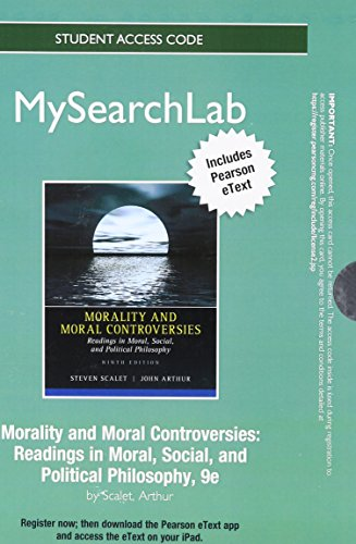 MySearchLab with Pearson eText -- Standalone Access Card -- for Morality and Moral Controversies: Readings in Moral, Soc