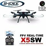 s-idee 01519 X5SW Quadrocopter X5W Wifi Kamera Syma X5W Headless Mod ähnlich wie X5C nur mit Wifi, 360° Flip Funktion, 2.4 GHz, 4-Kanal, 6-AXIS Stabilization System