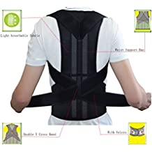 "Breathable Back Support and Lumbar Lower Back Brace provides Back Pain Relief - Keep Your Spine Safe and Adjustable Belt (S:waist length fits 27.5-33.4"", Black)"