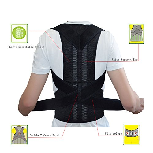 Breathable Back Support and Lumbar Lower Back Brace Provides Back Pain Relief - Keep Your Spine Safe and Adjustable Belt (XXL:Waist Length fits 43.3-49.2