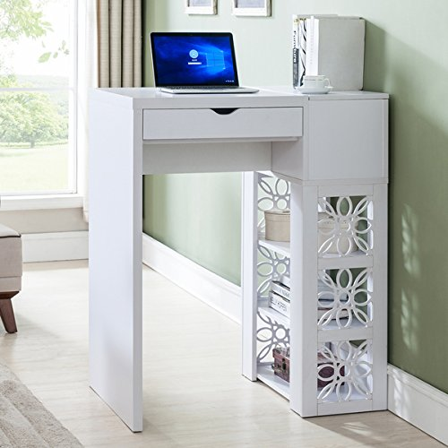 Furniture of America Hally Contemporary White Standing Desk/Bar Table by Product Furniture of America
