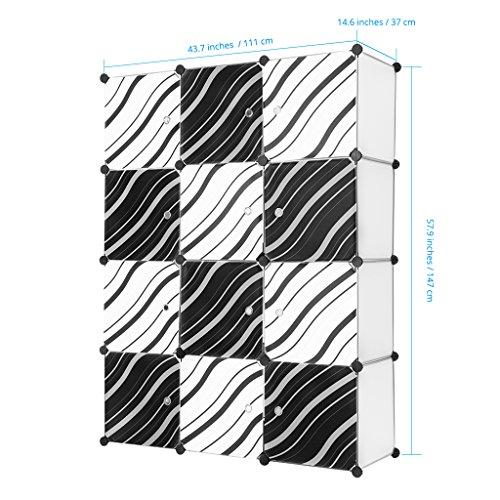 LANGRIA Shoe Rack Organizer (12 Cubes)