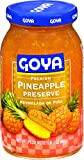 Goya Foods Premium Preserve, Pineapple, 17 Ounce (Pack of 12)