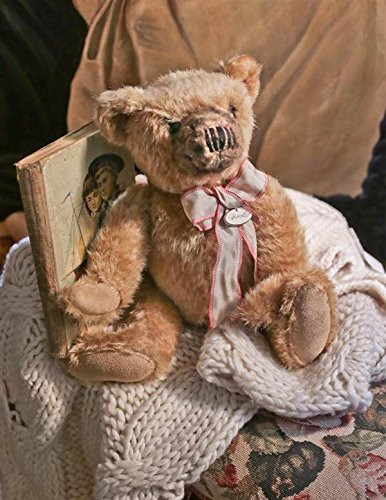 (Wadsworth Victorian Trading Co Jointed Teddy Bear Hand-Sewn Collectible 13