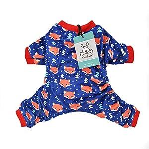 CuteBone Dog Pajamas Dog Apparel Dog Jumpsuit Pet Clothes Onesie Pajamas P23S