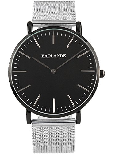 Alienwork Classic St.Mawes Quarz Armbanduhr elegant Quarzuhr Uhr modisch Zeitloses Design klassisch silber Metall U04916G-02