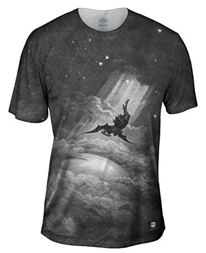 Yizzam- Gustave Dore - Paradise Lost Fall to Earth (1866) -Tshirt- Mens Shirt-3X
