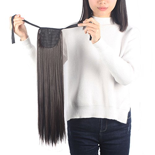 Haironline Drawstring Ponytail Clip in Hair Extensions Tie up One piece Fashion Sexy Ladies Wedding/Cosplay (Sexy Ponytails)