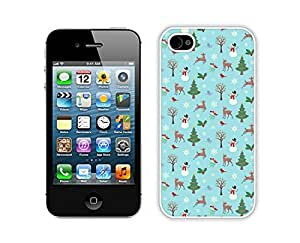 Diy Christmas animals White iPhone 4 4S Case 1