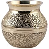 5Elements Brass Embossed Lota Traditional Kalash Handicraft for Decoration and Gift